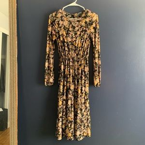Wild Fable calf length midi floral dress